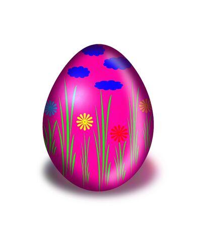 christian festival: Easter egg is a symbol of the spring Christian festival.  Stock Photo