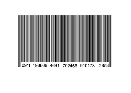 Bar code label on a white background Stock Photo