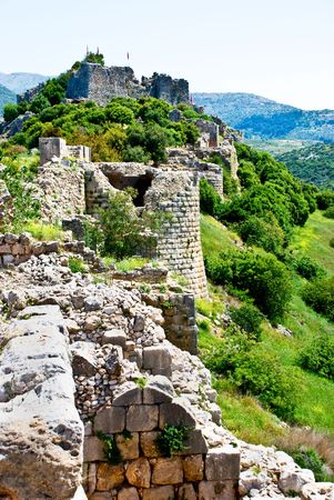 Remains of the Nimrod fortress on the Golan Heights Фото со стока - 4779501