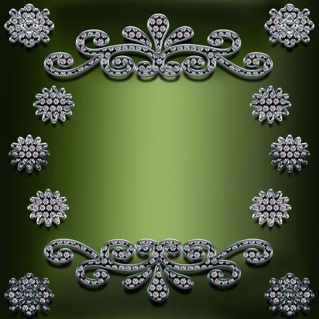 다이아몬드의 삽화는 프레임을 장식했다. 스톡 콘텐츠
