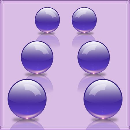 glass reflection: An illustration of 3D  glass balls with reflection