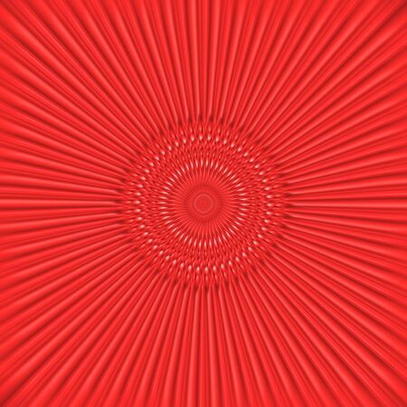 An abstract background.Red rays going out of the circle centre