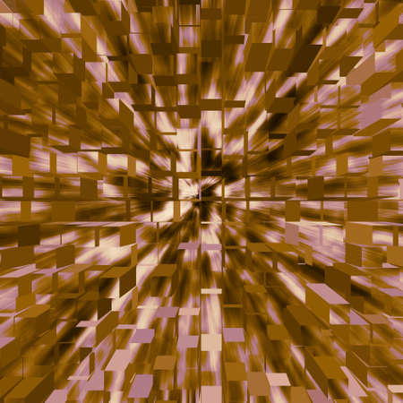 An abstract background of flying three dimensional cubes