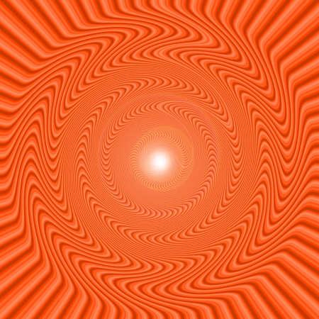 An orange abstract background making vertigo