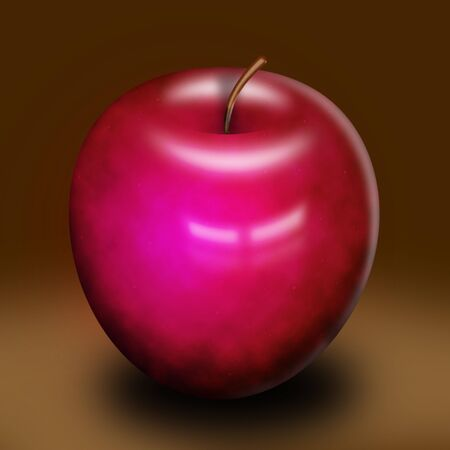 An illustration of a red succulent delicious apple