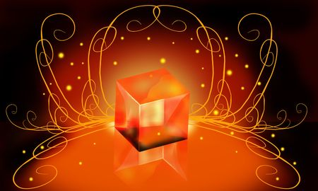 lambent: An illustration of a  lambent gift box  Stock Photo