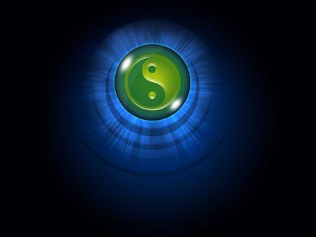 Yin yang as an oriental symbol of duality.