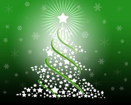 グラフィック効果によって描かれたクリスマス ツリーの図