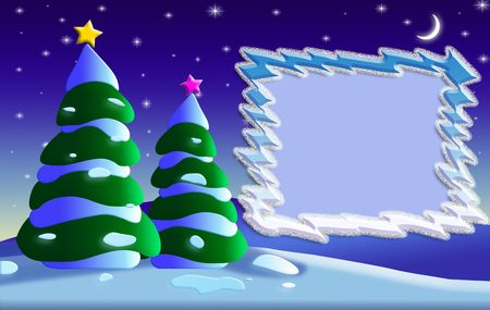 cristmas: Greeting card background for Cristmas and New Years day with a photo frame.