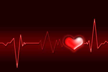 heart monitor: An illustration of an electrocardiogram (ECG).Clip art.