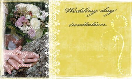 A sample card for wedding day invitation Stock Photo - 6370263