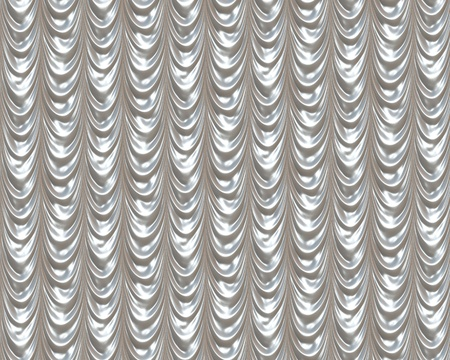 silver background: A silver curtain background creased silky cloth. Stock Photo