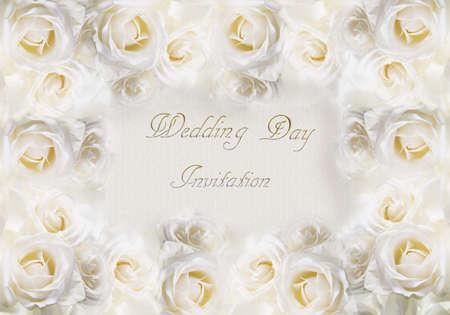 A card for a wedding invitation. Art illustration.