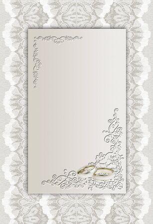 A card for a wedding invitation. Art illustration. illustration