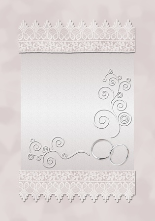 edge: A card for a wedding invitation. Art illustration. Stock Photo