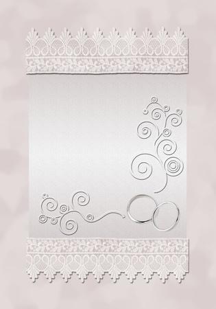 Eine Karte für eine Hochzeitseinladung. Kunst Illustration. Standard-Bild - 10560048