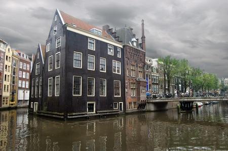 アムステルダムの美しい通りの一つ 写真素材
