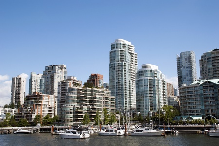 port stanley: A beautiful summer day in Downtown of Vancouver Canada Stock Photo
