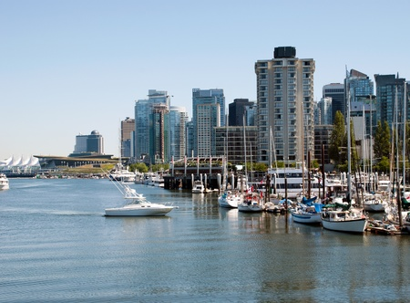 Canada Place in Vancouver BC Canada a port of entry departure for cruise ships
