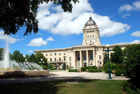 Manitoba Legislative Building in Winnipeg, Manitoba, Canada Stock Photo