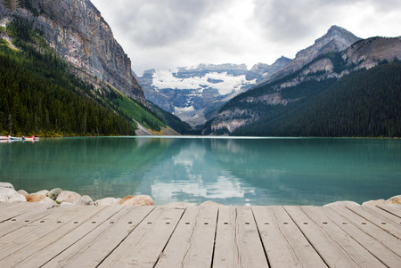 louise: Scenic View of Lake Louise, Banff National Park, Alberta ,Canada
