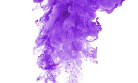 purple paint in water