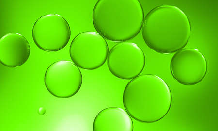 water bubbles: Green bubbles under water