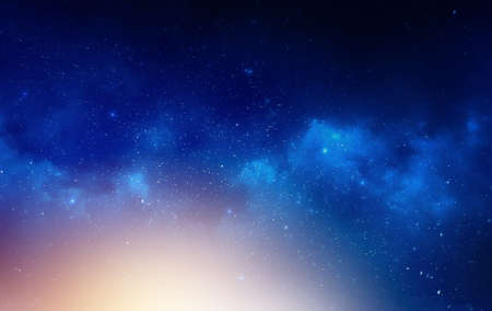 Galaxy Universe background stars