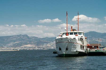 istanbul beach: Izmir passenger ferry ship Editorial