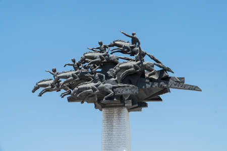 Independence monument in city of Izmir