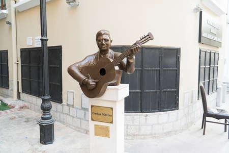 Enrico Macias sculpted Stock Photo