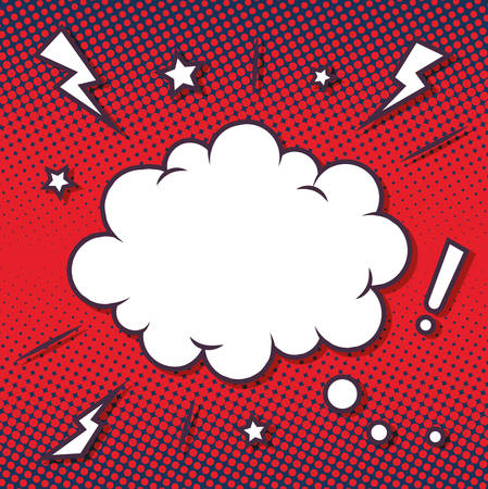 comic book pop art background - retro cartoon explosion