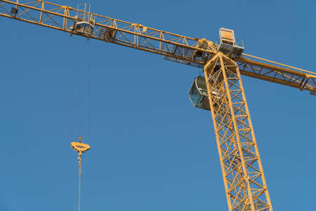 Blue sky, Crane Details Stock Photo