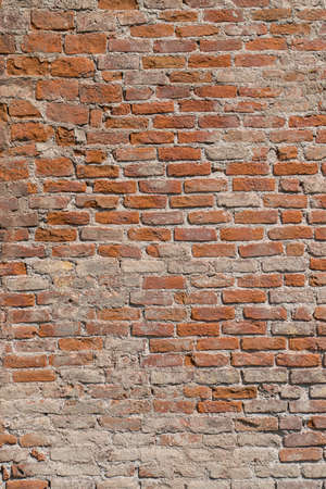 craked: Old brick wall. Texture of old brickwork. Stock Photo