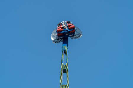 Kamikaze in mid air in a funfair
