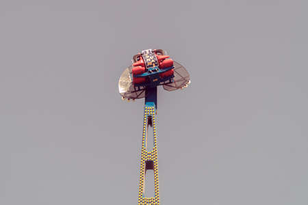 Kamikaze in mid air in a funfair