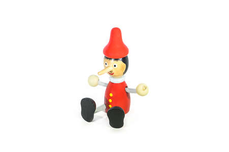 Pinocchio on white background