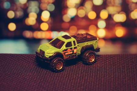 Toy car close up