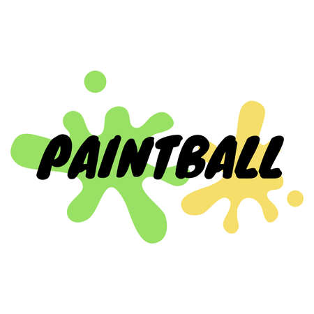 Paintball vector text