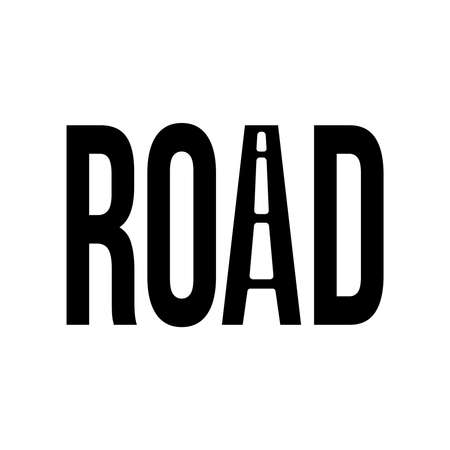 Road vector text Illustration