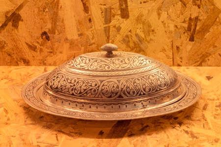 Ottoman silver tray Stock Photo