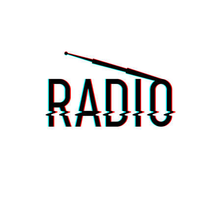 Radio-Logo-Vektor-Illustration.