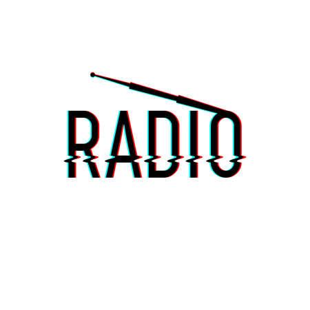 Radio logo Vector illustration.