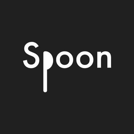 Spoon Logo Vector Design Illustration