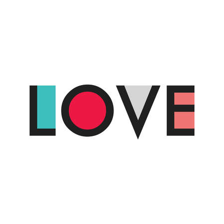 LOVE vector illustration design Illustration