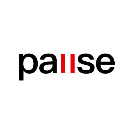 Pause logo vector design.