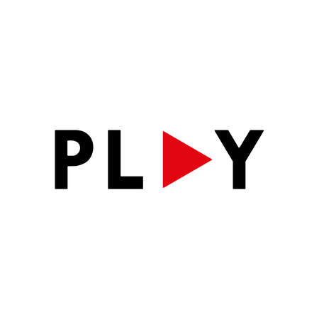 Play logo vector design. Stock Illustratie