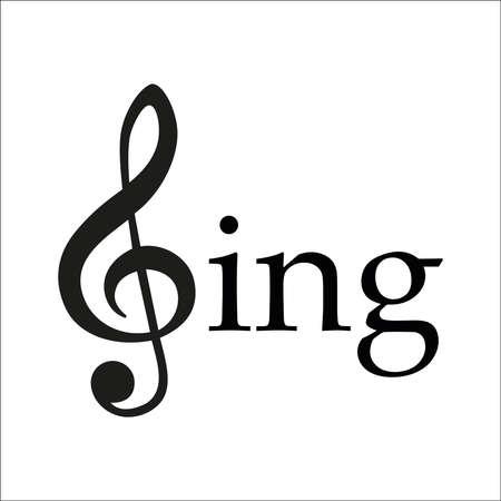 Sing vector design illustration on white background. Banque d'images - 100630070