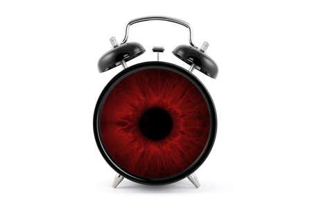 clock in the brown eye