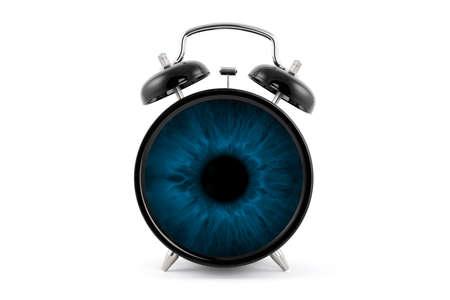 clock in the blue eye 写真素材
